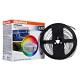 SYLVANIA LED Remote Control Light Strip Starter Kit, 16 Color Options, Dimmable, 10 Feet Total (65482)