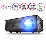 Myra Q19 Native 1080P True FHD Projector with 5500 Lumens, Video LED Projector for Home Theater