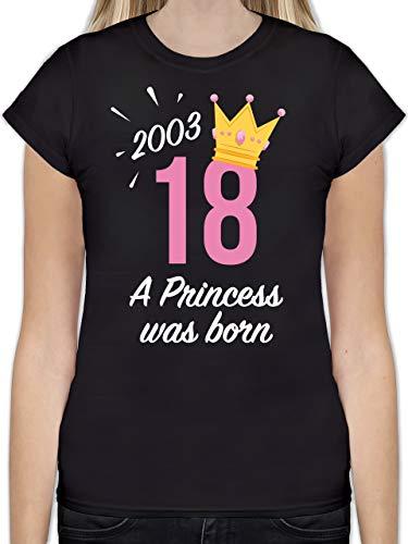 Geburtstag – 18 Geburtstag Mädchen Princess 2001 – S – Schwarz – L191 – Damen T-Shirt Rundhals - 5
