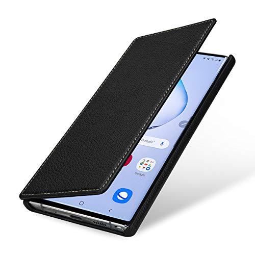 StilGut Hülle kompatibel mit Galaxy Note 10+ Tasche aus Leder, Book Type, schwarz