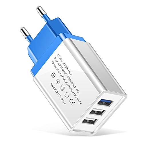 Kloius Ligero portátil EE. UU. UE Enchufe 3 Puertos USB Cargador de teléfono móvil Bases de Carga