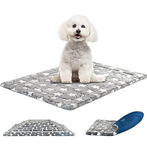 KROSER Almohadilla para Perros Colchoneta Reversible Colchón para Mascotas Elegante 61 cm Almohadilla de Esponja de Alta Densidad Lavable a Máquina Cama para Perros Pequeños y Gatos de hasta 11kg