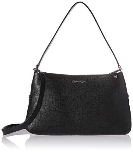 Calvin Klein Jackson Pebble Leather Organizational Crossbody, black/silver