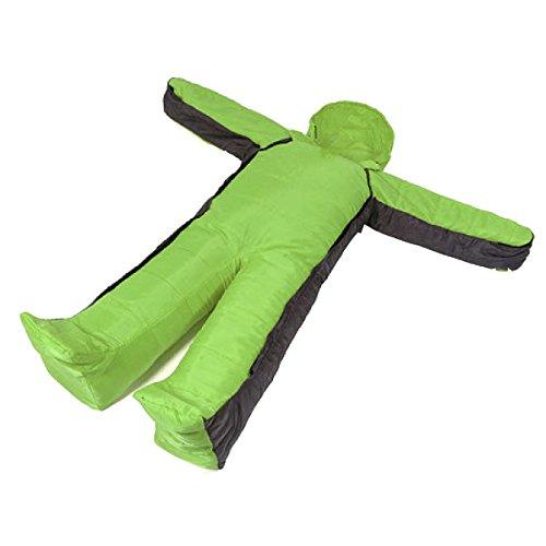 Humanoïdes En Plein Air Yy.f Jambes Sacs De Couchage De Fibres Chimiques Au Chaud Le Camping D'escalade Adulte Voyage Sac De Couchage Ultra-léger,Green-145*160*33cm