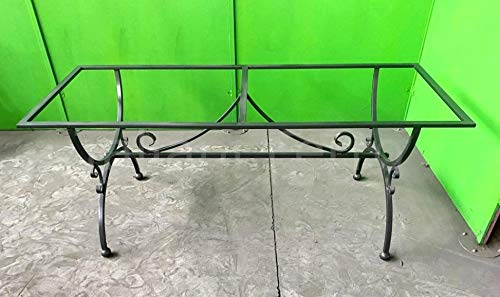 Taliani Ferro Mesa de hierro forjado completa (sin estantes) con pintura epoxi y poliuretano. Medidas 70 x 180 x 73 cm aprox. Alta calidad. Fabricado en Italia.