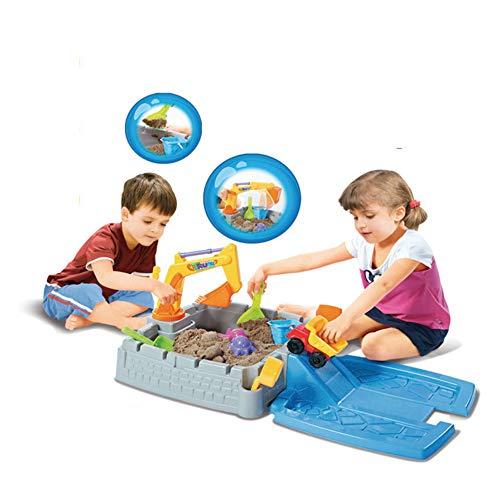 Caja De Arena para Niños con Carro De Arena, Moldes De Arena, Cubos De Arena, Excavadora