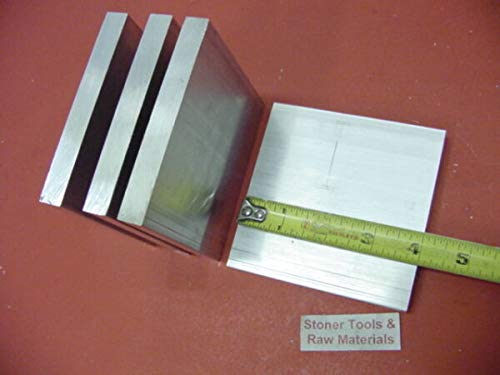 TAKAZOON Metal Sheets & Flat Stock Supplies For 6 Pieces 1/2' X 4' ALUMINUM 6061 T6511 SOLID FLAT BAR 4' long Plate Mill Stock for DIY Craft Tool