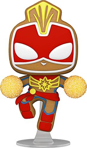 Funko- Pop Holiday-Captain Marvel S3 Figura coleccionable, Multicolor (50661)