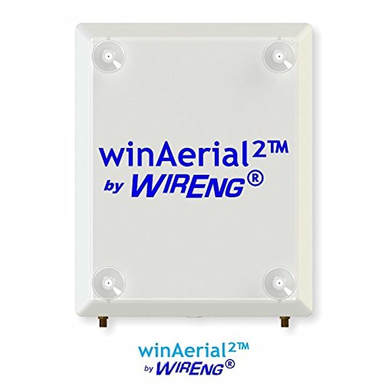 WinAerial2? Dual Antenna for Alaska Comm BandLuxe 4G LTE USB Modem On-Window No-Installation True MIMO ±45° (WinAerial? 2)