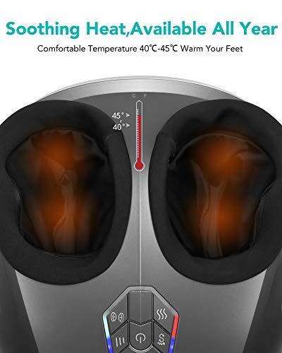 4133o2WOhQL. SL500  - Naipo Masajeador de Pies Masaje Shiatsu Rodillos Amasamiento con Calor, Intensidad Regulable y Función Compresión de Aire