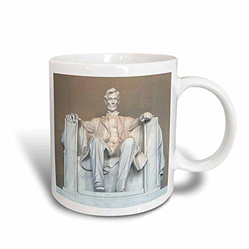 3dRose Abraham Lincoln Memorial, Washington DC-US09 RKL0011 Raymond Klass Magic Transforming Tasse, 325 ml, Schwarz/Weiß