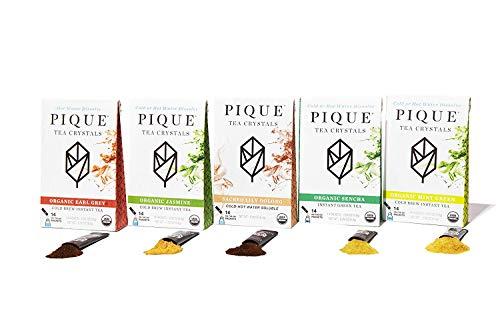 Pique Organic Variety Tea Crystals Sampler, Gut Health, Fasting, Calm, 70 Single Serve Sticks (Pack...