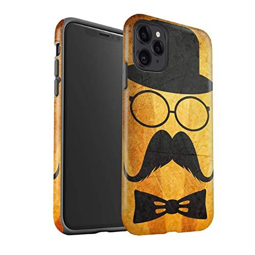 eSwish telefoonhoesje/Cover/Skin/IP-3DTBM / Retro Moustache Collectie Apple iPhone 11 Pro Stuur/Bril