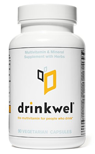 Drinkwel for Hangovers, Liver Support & Detox Multivitamin (90 Capsule)