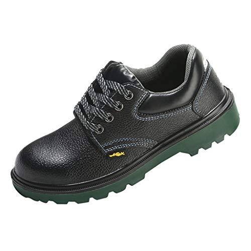 SDENSHI Puntera de Acero Zapatos de Seguridad en El Trabajo Botas Calzado Al Aire Libre Impermeable Reflectante - Negro-EU 44 US 10.5 UK 9.5