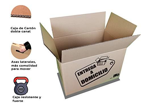 Chely Siglo Cajas mudanza grandes 60x40x40 cm(Pack de 10 unidades) Canal Doble MAS RÍGIDO, PRACTICO en MUDANZA y CONSISTENTE|Disponible en varios dimensiones|Fabricadas en España-100% Reciclable.