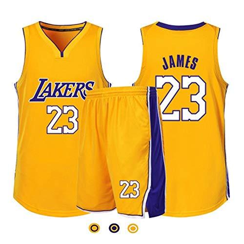 Camiseta De Baloncesto Para Hombre, Conjunto De Camiseta Retro NBA Lakers # 23 Lebron James, Camiseta De Verano Con Malla Transpirable Y Absorbente De Sudor, Uniformes De Baloncesto Para Fans Leales