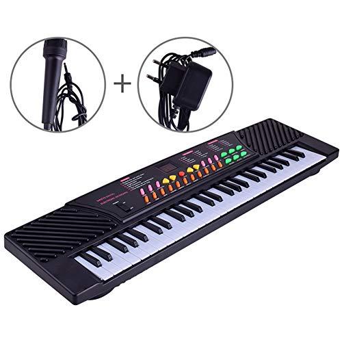 54-Key Beginners Elektronisch Toetsenbord Piano Set W/LED-scherm, met microfoon voor Meisjes Jongens, Beste cadeau voor uw kinderen
