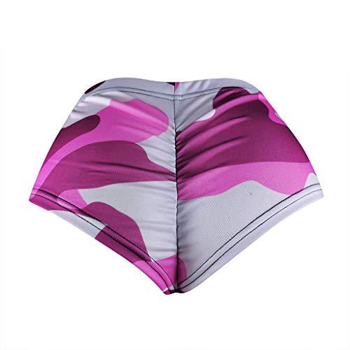 Qiuday Damen Shorts Sport Yoga Enge Hose Sweatpants Laufshorts Training Gym Yogahose Fitness Sexy Mini Hotpants Jogginghose Workout Running Hose Frauen Sommer Camouflage Ultra-Shorts