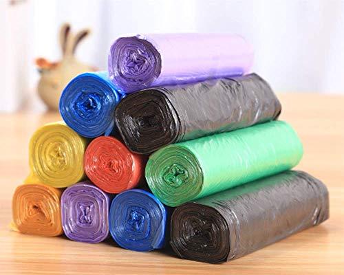 JCDZSW 5 Rouleaux de Sacs en Plastique jetables Petits Sacs à ordures, poubelles de Cuisine et de Salle de Bain (2PCS),Vert