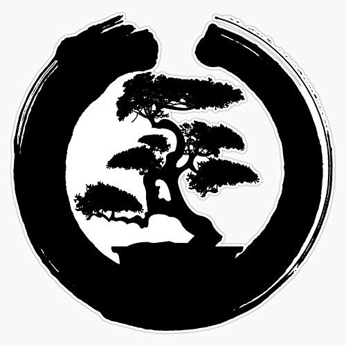 Cool Bonsai Tree Gift For Yoga Lovers Sticker Vinyl Bumper Sticker Decal Waterproof 5'