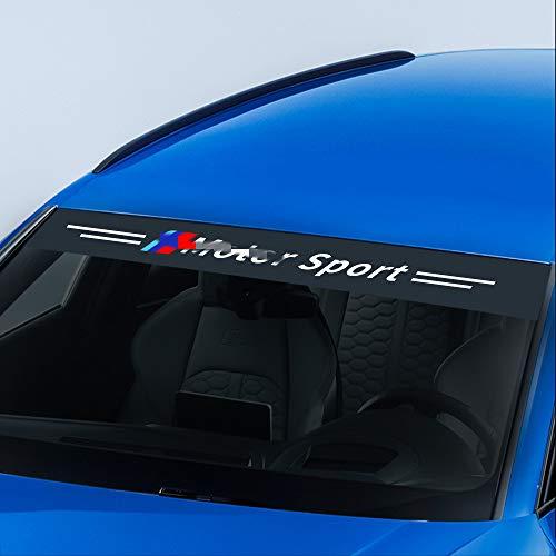 GLEETIEZ Adhesivos para el Parabrisas del Frente del Coche Adhesivos Reflectantes Parasol Decoración,para BMW E46 E90 E60 E39 E36 E87 E92 E91 E34 F30 E10 F20 F30 G30 X6 X5 X1 X3