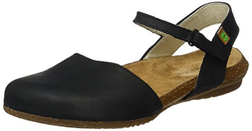 El Naturalista S.A N412 Pleasant Wakataua, Damen Closed-toe Sandalen, Schwarz (Black), 38 EU