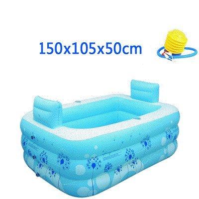 Best Deals! MBJZ The folding thick inflatable bath wash bath barrel bath adult Home bath,15010550cm