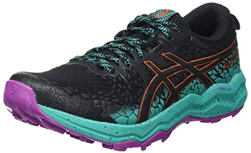 Asics Fujitrabuco Lyte, Trail Running Shoe Mujer, Black/Baltic Jewel, 38 EU