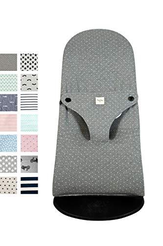 Fundas BCN® - Funda para Hamaca BabyBjörn ® Balance, Soft y Bliss - Apta para Todos los Modelos - Funda de hamaca bebés - Estampado Vintage Dot