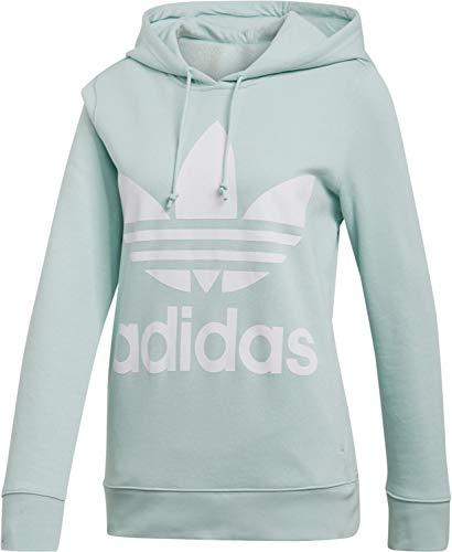 Adidas Damen TREFOIL HOODIE Sweatshirt TREFOIL HOODIE, Grün (vapour green), 30