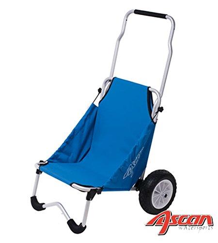 ASCAN Surf Buggy - para Transporte de deportes y ocio Accesorio, como Tabla Canoa, Kajak, - Capacidad carga 50kg 107 x 66 77cm, 4, 7kg - puede Asiento (100kg) ser utilizado