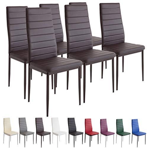 Albatros 2701 Milano Set de 6 sillas de Comedor, marrón