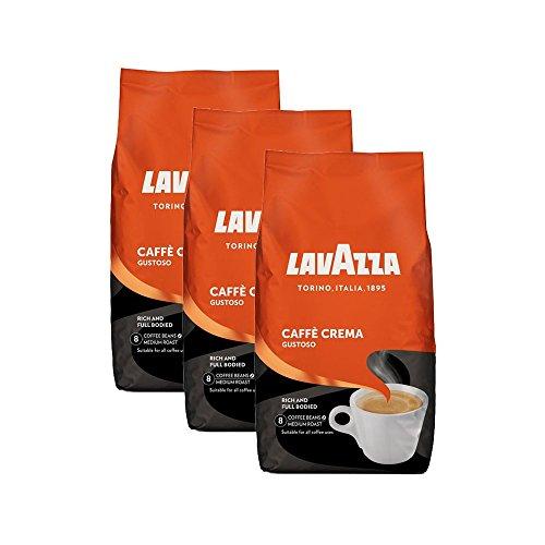 Lavazza Caffè Crema gustoso, 1000g ganze Bohne 3er Pack