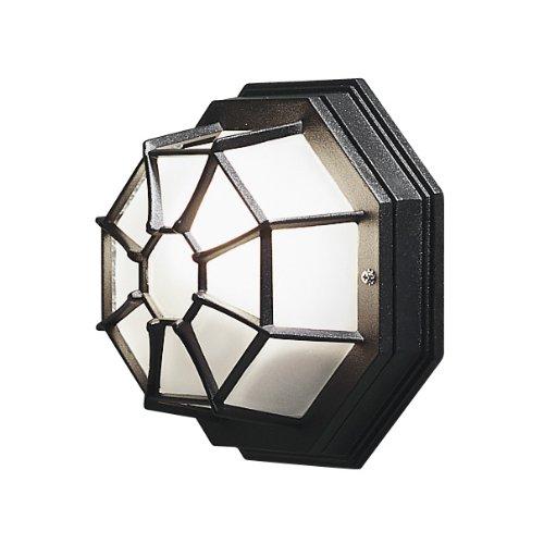 Konst Smide 7091-750 - Lámpara de Pared (27x13x27cm, 1 Bombilla E27 de 60W, IP23, Aluminio Pintado), Color Negro