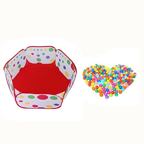VORCOOL Piscina con palline per bambini pieghevole 50PCS di palline colorate