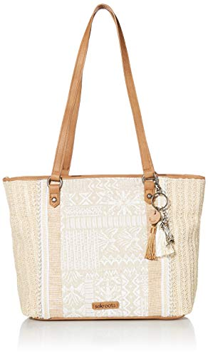 Sakroots womens Sakroots Meadow Medium Straw Tote White Size: One size