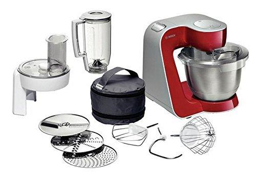 Bosch Mum 54720 Styline Colour Robot Cocina MUM54720 Rojo Profundo, 900 W, Acero Inoxidable,...
