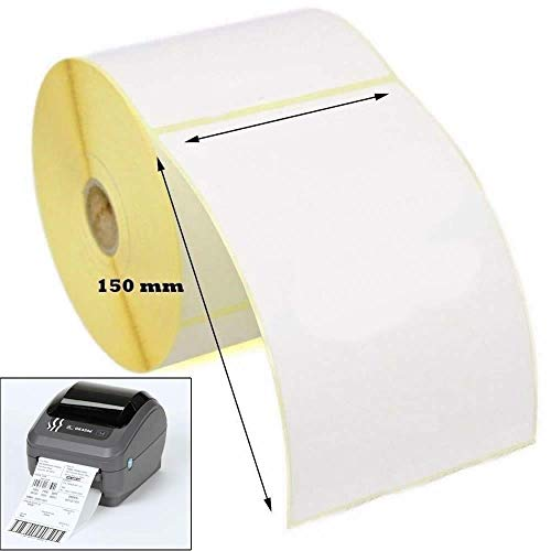 Thermo-Etiketten für Zebra Drucker GK420D GX420D GK420T, Weiß, 100 x 150 mm, 1 Rolle (500 Etiketten)