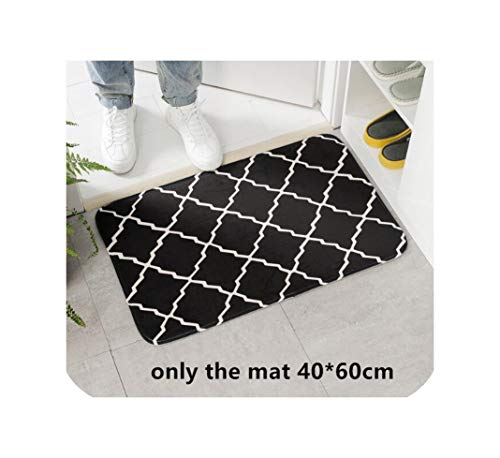 Solarkirin 3Pcs Toilet Seat Cover Set Absorbent Non Slip Bathroom Rug Bath Mat Set Mat Flannel Floor Mats,61