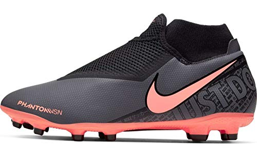 Nike Phantom Vsn Academy DF FG/MG, Zapatillas de Fútbol Hombre, Gris (Dk Grey/BRT Mango/Black/Black 080), 46 EU