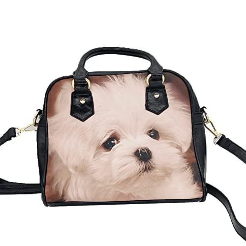 Harajuku Y2k, bolso de diseñador Kawaii de estilo coreano, bolsos de cuero PU con estampado de perro para mujer, bolsos cruzados, bolsos de hombro, bolso de compras