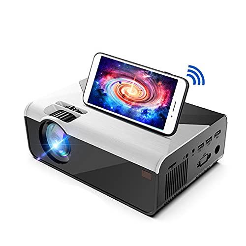GAOword WiFi Mini Projector Proyector de películas al Aire Libre Nativo 1280x720P Admite 1080P y es Compatible con TV Stick Videojuegos, HDMI, USB, TF, VGA, AUX, AV