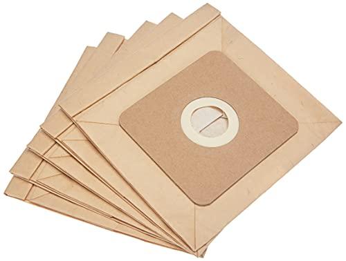 Taurus 999193000 Paquet de 5 sacs en papier ECO pour aspirateurs à traîneau, 2L , biodégradables, Bois