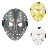 IronBuddy 3Pcs Jason Hockey Mask Costume Mask Prop for Cosplay Masquerade Party Halloween Decorations Dress Up