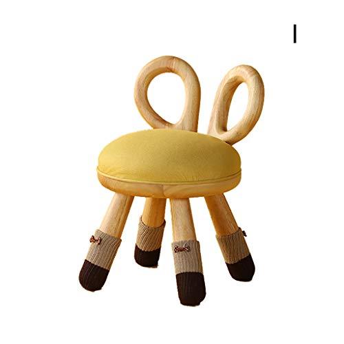 Silla para niños, Respaldo para el hogar Taburete Animal Creativo Taburete Lindo, Taburete bajo Silla de Madera Maciza para jardín de Infantes