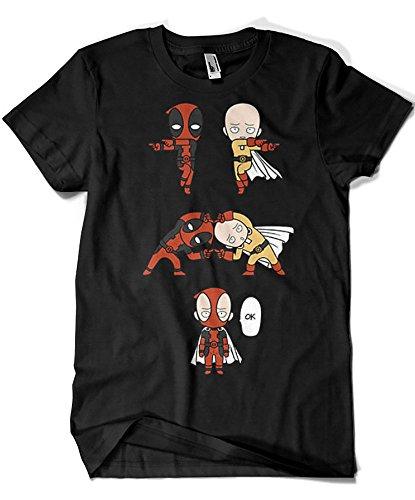 4006-Camiseta Premium, Saitama x Deadpool Fusion...