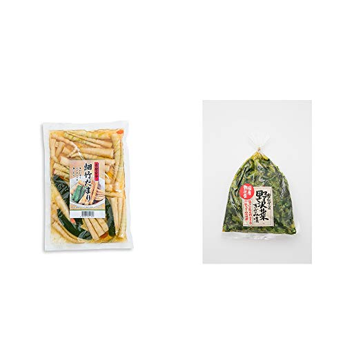 [2点セット] 青唐辛子 細竹たまり(330g)・国産 昔ながらの野沢菜きざみ漬け(150g)