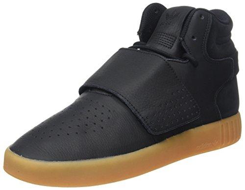 adidas Herren Tubular Invader Strap Hohe Sneaker, Schwarz (Core Black/Gum/Footwear White), 46 EU