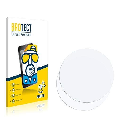 BROTECT 2X Entspiegelungs-Schutzfolie kompatibel mit Armbanduhren (Kreisrund, Durchmesser: 48 mm) Matt, Anti-Reflex, Anti-Fingerprint